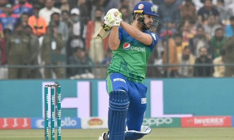 Multan Sultan's Riley Rossouw hit multiple fours and sixers to complete his century. — Photo courtesy Multan Sultans Twitter