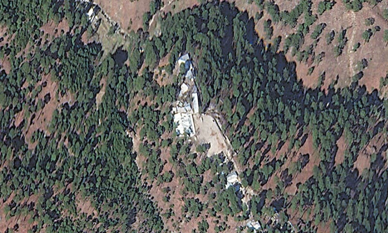 A satellite image of a madrassa near Balakot which was the intended target of India's air strike | Reuters