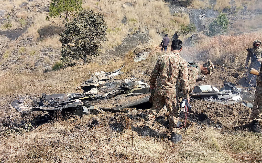 Pakistan said on February 27 last year that it has shot down two Indian warplanes in its airspace over Kashmir in a dramatic escalation of a confrontation that ignited fears of an all-out conflict between the nuclear-armed neighbours | STR/AFP