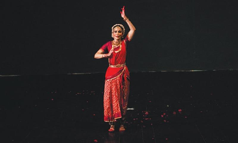 Bharatanatyam dancer Tehreema Mitha performs to pay tribute to her mother, Indu Mitha, at Alhamra. — White Star