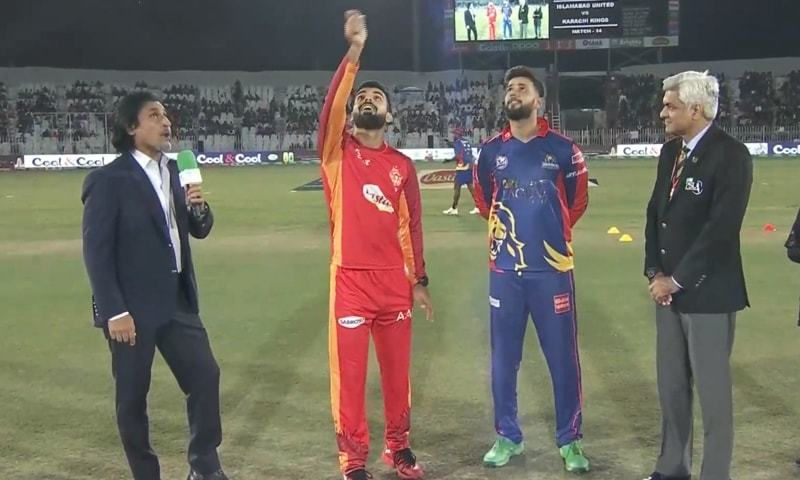 Karachi Kings won the toss and elected to field first in their Pakistan Super League (PSL) 2020 match on Sunday. — DawnNewsTV