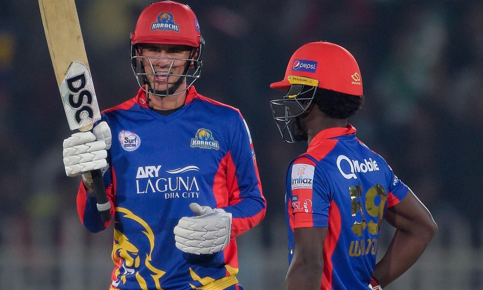 کراچی کی جانب سے شاندار کارکردگی پر ہیلز کو میچ کا بہترین کھلاڑی قرار دیا گیا—فوٹو:اے ایف پی