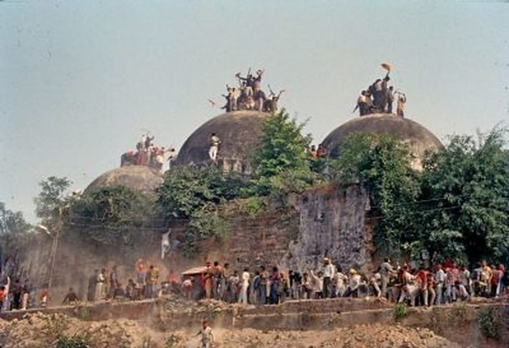 The demolition of Babri Masjid in the 90s. — Photo from Scroll.in