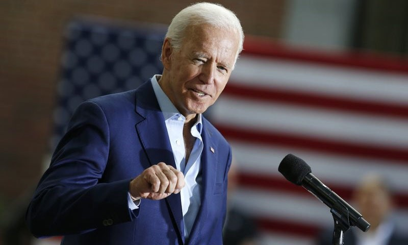 """""""Today's the day!"""" tweeted Biden, the 77-year-old former vice president who is making his third bid for the White House. """"Make sure to get out and vote."""" — AP/File"""