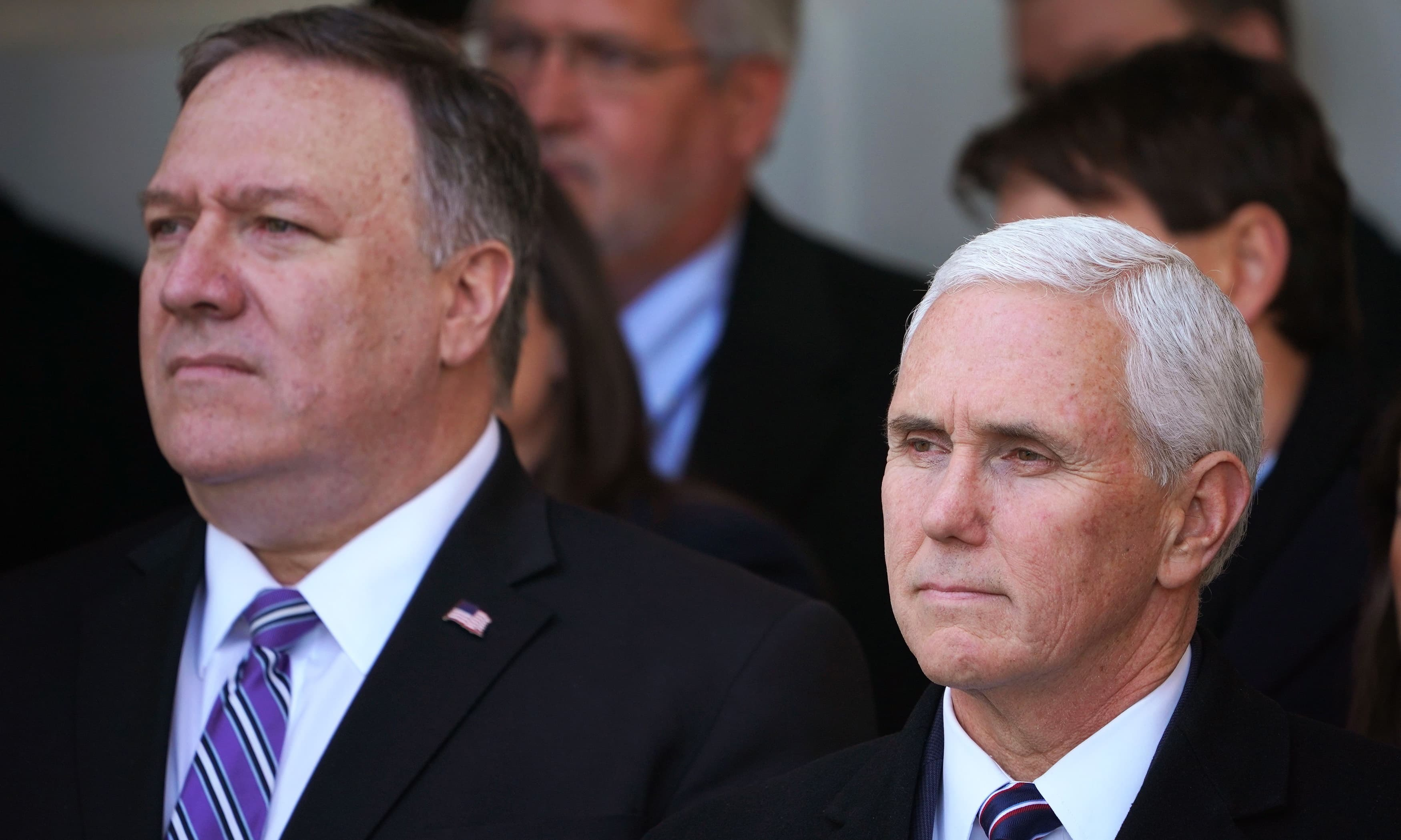 The event attracted several high profile attendees including Mike Pence, Mike Pompeo, Senate Majority Leader Mitch McConnell, and former White House hopeful Mike Bloomberg. — AFP/File