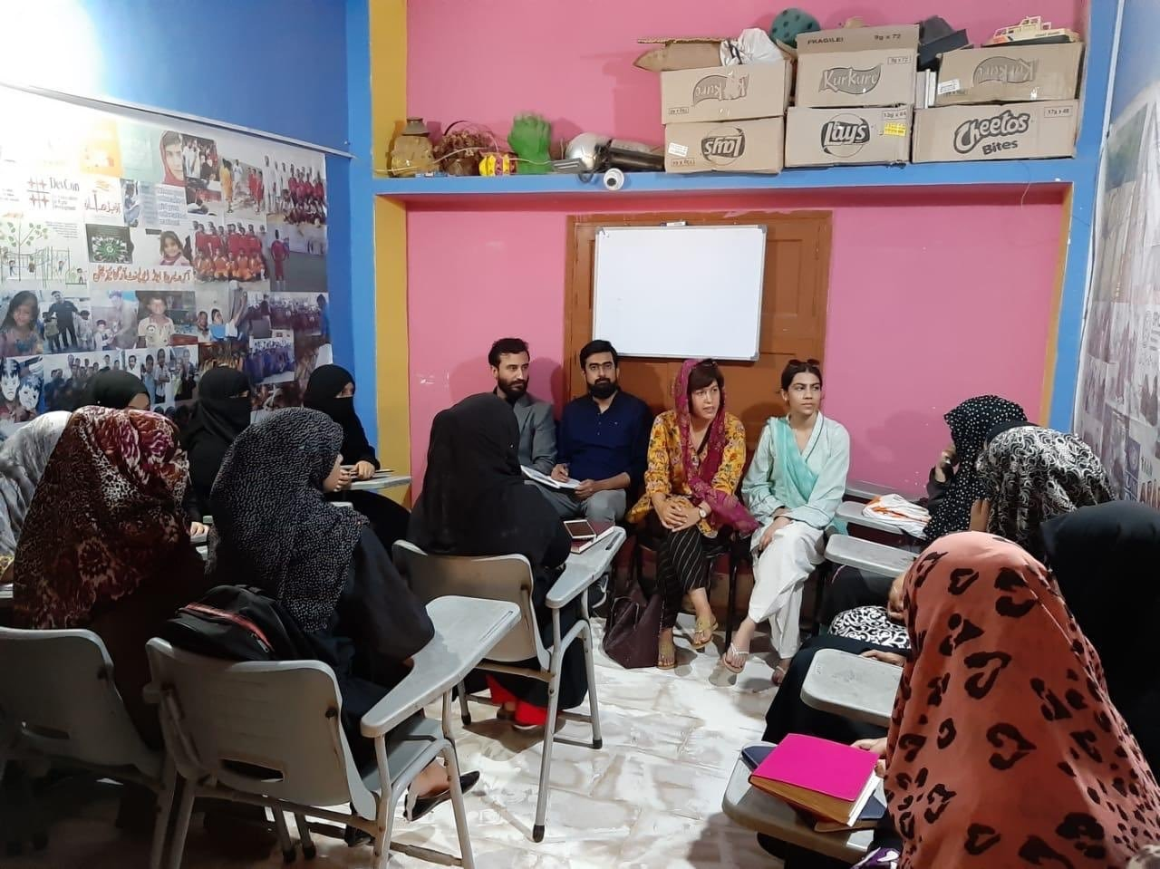 With the Tech Karo initiative, the aim is to train women in Lyari in technical skills. — Photo courtesy Twitter