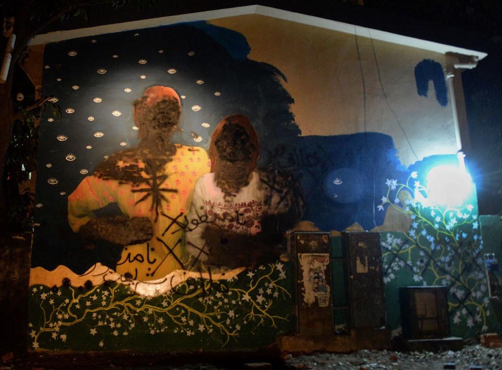 Aurat Azadi March's mural was vandalised in Islamabad last week | Mohammad Asim, White star