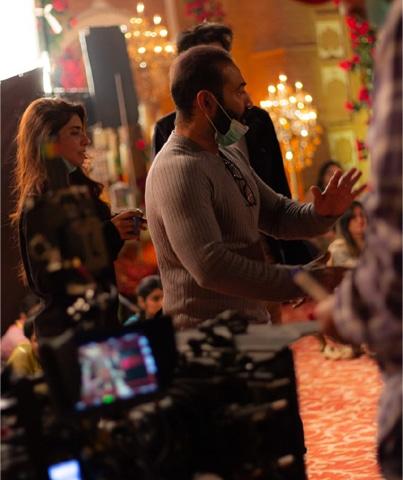 Director Nadeem Baig in action