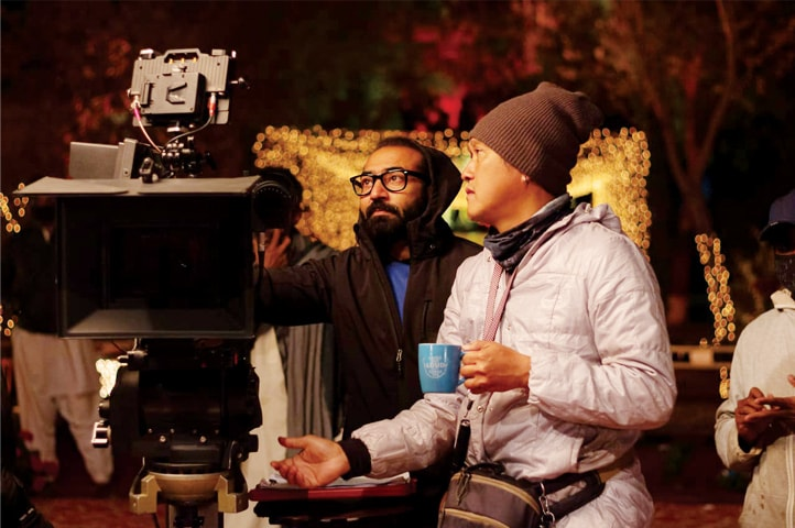 Director Nadeem Baig with Assistant DoP Kim Lee