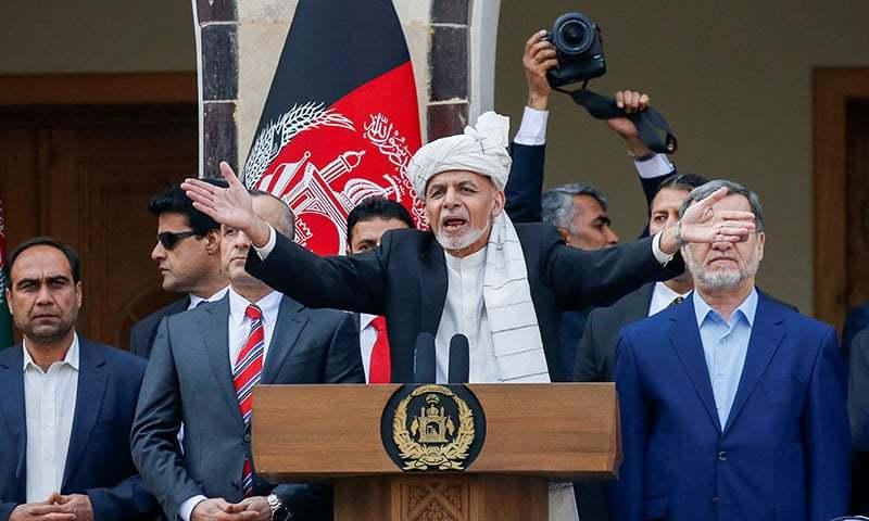 اشرف غنی نے دوسرے دور کے لیے صدر کا حلف اٹھایا—فوٹو:رائٹرز
