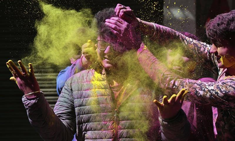 What coronavirus? Revellers across Asia celebrate Holi with colours, dance