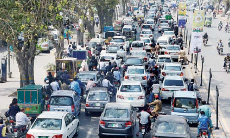 LHC judge takes notice of frequent traffic jams in the city during the PSL matches. — Dawn/File
