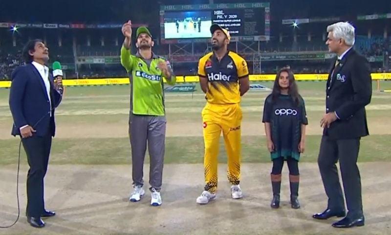 Lahore Qalandars won the toss and decided to field first against Peshawar Zalmi. — DawnNewsTV