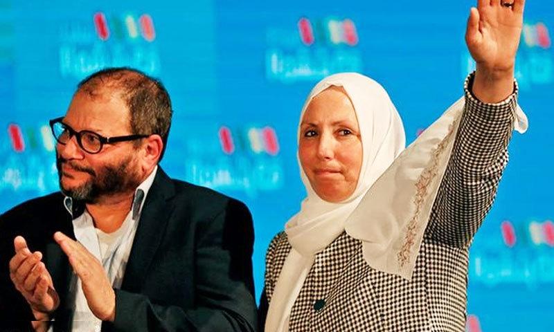 ایمان یاسین نے جیت کے بعد اپنے آبائی علاقے میں خطاب کے دوران اسرائیل میں اسلامو فوبیا پر بھی بات کی—فوٹو: اے ایف پی