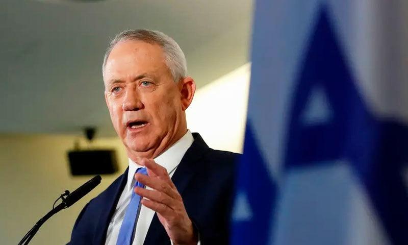 بلیو اینڈ وائٹ پارٹی کے سربراہ بینی گینٹز بھی اتحادی حکومت بنانے کے لیے کوشاں ہیں—فوٹو: اے ایف پی