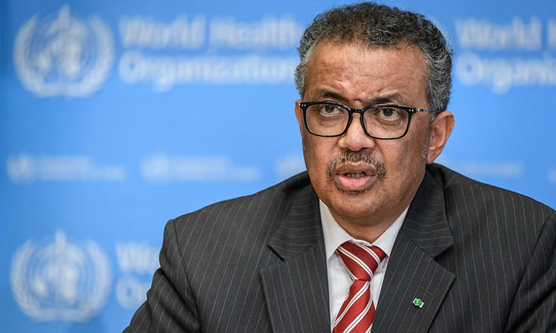 World Health Organisation (WHO) Director-General Tedros Adhanom Ghebreyesus attends a daily press briefing on COVID-19 virus at the WHO headquaters on March 11 in Geneva. — AFP
