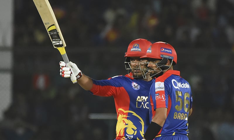 Sharjeel, Babar steer Karachi Kings to 10-wicket victory against Lahore Qalandars