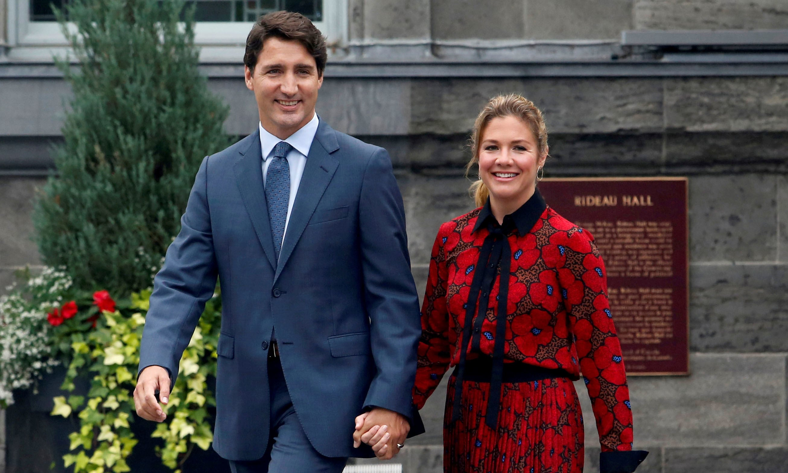 This file photo shows Canada's Prime Minister Justin Trudeau and his wife Sophie Gregoire Trudeau leaving Rideau Hall. — Reuters