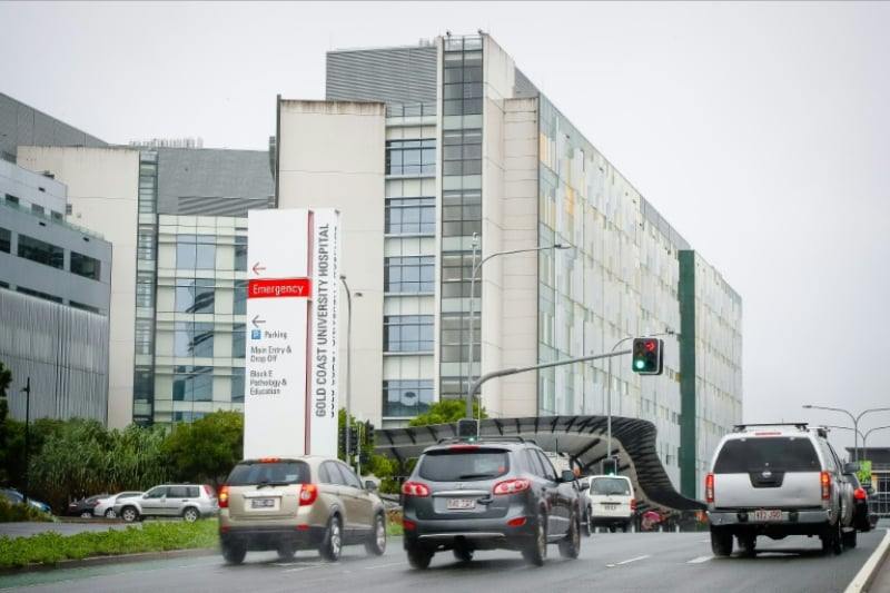 AFP / Patrick HAMILTON - The Gold Coast University Hospital where US actor Tom Hanks and his wife Rita Wilson have been diagnosed with the coronavirus and are in isolation