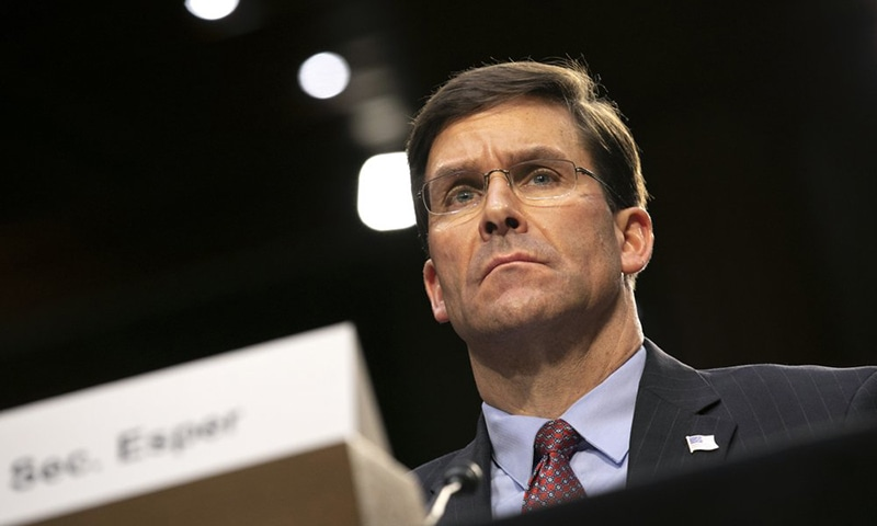 "US Defence Secretary Mark Esper said that the US will take ""any action necessary to protect our forces in Iraq and the region"". — AP/File"