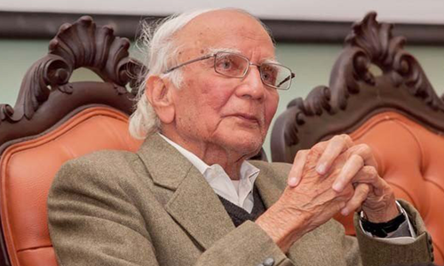Dr Mubashir Hasan, one of the PPP's founding members, passed away on Saturday. — DawnNewsTV/File