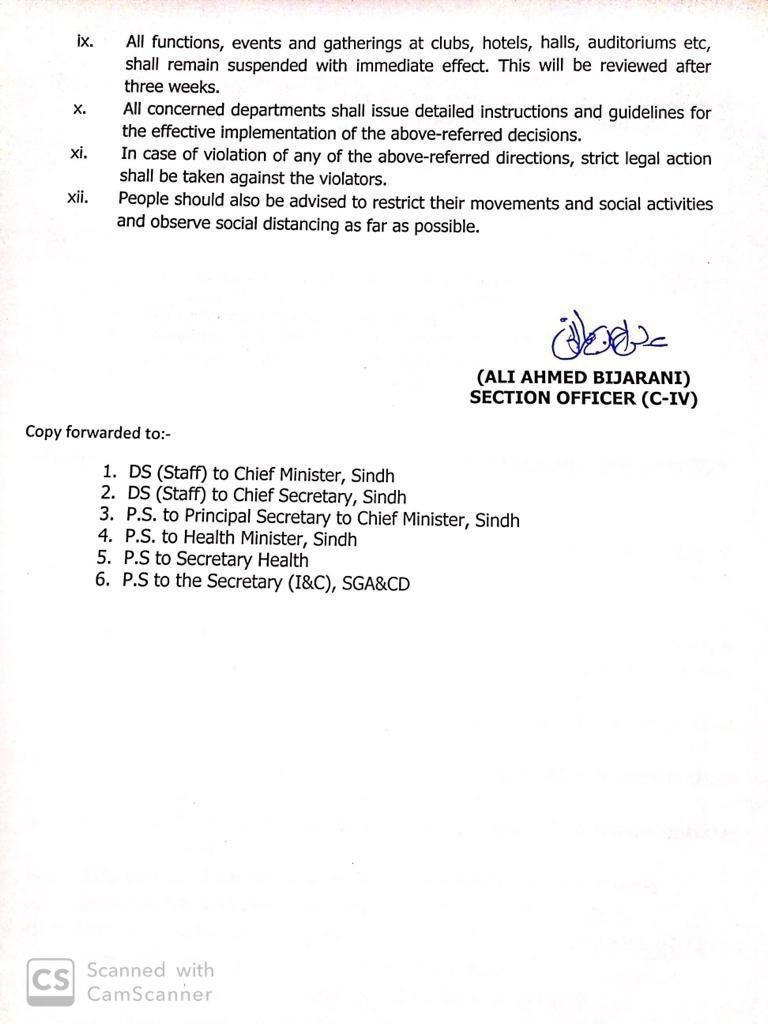 Directions issued by Sindh govt. (Page 2)