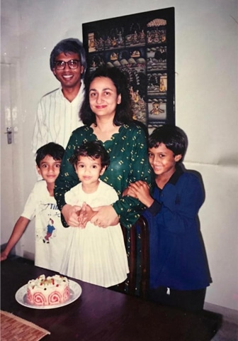 With family in Karachi (1994)