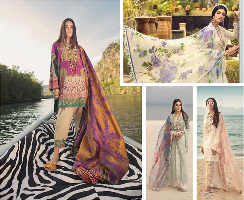 """""""The key is to make the designs look aspirational,"""" says designer Safinaz Munir of Sana Safinaz. """"We do this with the stylisation of the models and by traveling to beautiful locations that a girl would want to go to."""" -Photos: Sana Safinaz"""