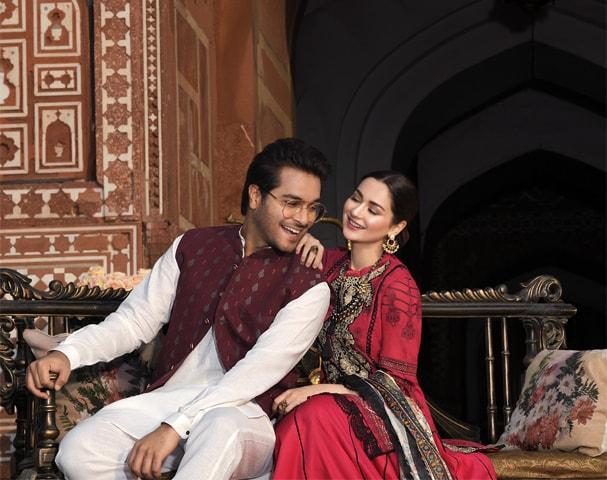 Asim Azhar and Hania Aamir for Asim Jofa