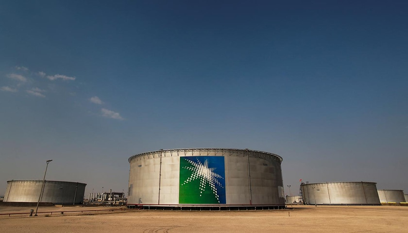 A view shows branded oil tanks at Saudi Aramco oil facility in Abqaiq, Saudi Arabia on October 12, 2019. — Reuter/File