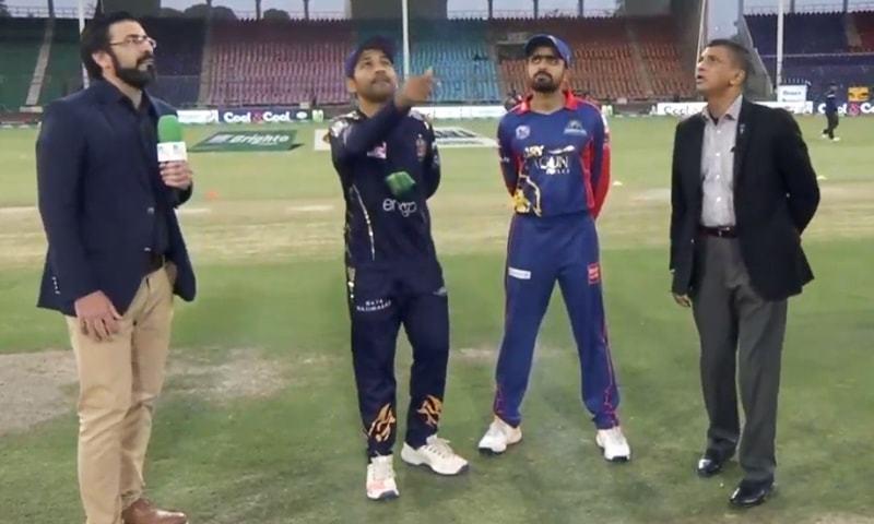 کراچی کنگز نے ٹاس جیت کر پہلے بیٹنگ کا فیصلہ کیا— اسکرین شاٹ