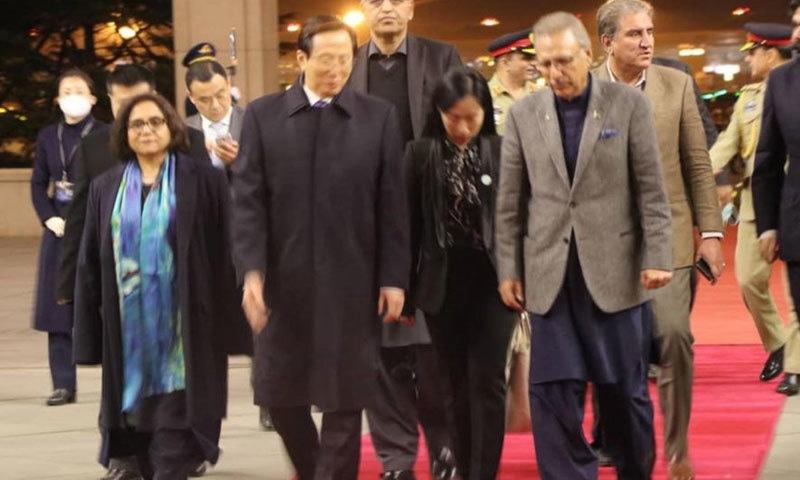 چین کے وزیر زراعت نے صدر مملکت کا استقبال کیا—فوٹو:پی آئی ڈی