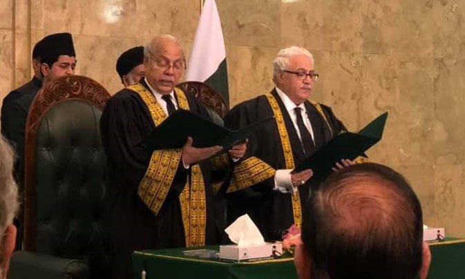 Justice Naqvi takes oath as SC judge