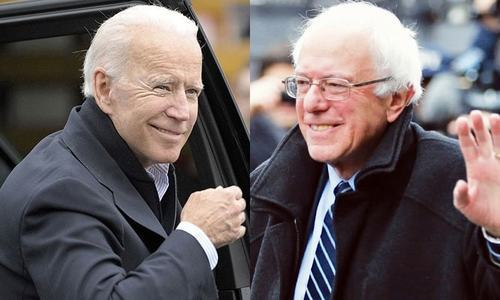 Biden, Sanders campaign online on eve of crunch votes