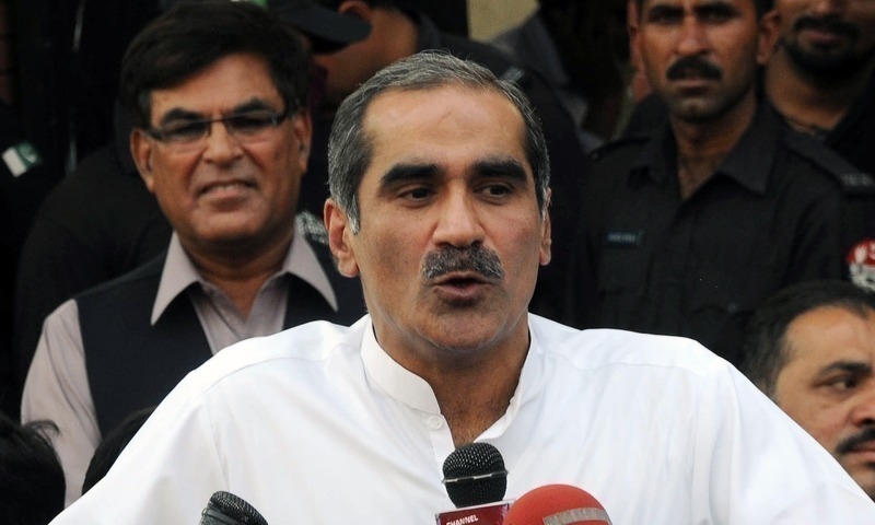 """""""The entire economic policy of the government revolves around daydreaming,"""" says Saad Rafique after release. — Dawn/File"""
