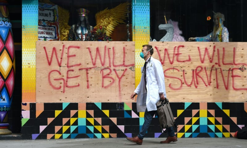 US leads huge economic fightback against virus, EU shuts borders