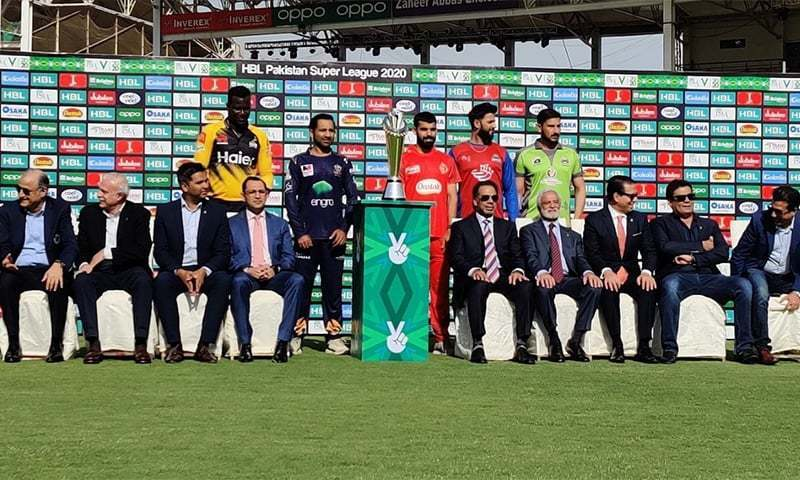 The Pakistan Super League broadcasting crew members from India were refused entry into their homeland after the PSL was postponed last week. — Twitter/File