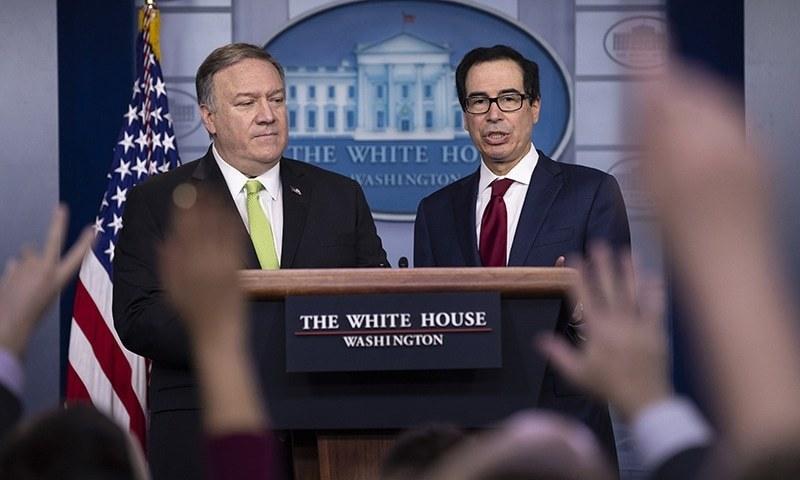 واشنگٹن کی جانب سے تازہ پابندیاں ایران پر مزید اقتصادی دباؤ بڑھانے کے لیے ہیں —فائل فوٹو: اے پی