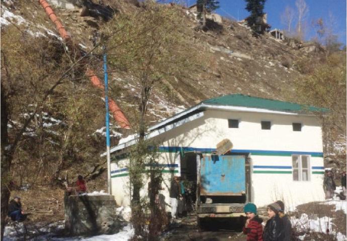 A micro hydropower station in Madak Lusht. — Dawn