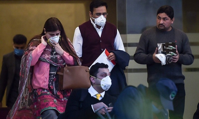 An official of the Ministry of National Health Services, requesting anonymity, said the official was identified as a suspect of Covid-19 due to which he was separated from other passengers. — AFP
