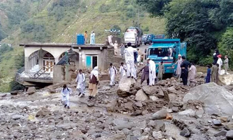 Three children have been killed and seven injured in roof collapse incidents as heavy rain lashed several districts of Khyber Pakhtunkwa on Friday night and Saturday. —Dawn/File
