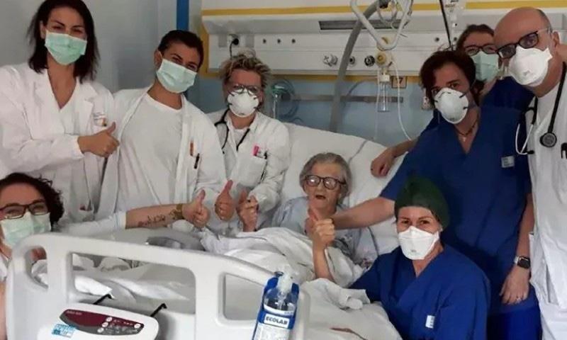 اٹلی میں 95 سالہ خاتون کورونا وائرس کو شکست دینے میں کامیاب