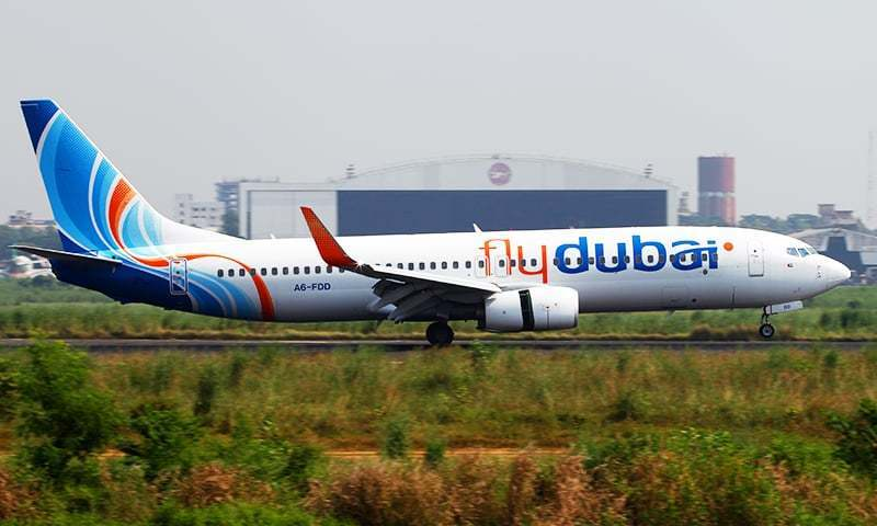 Fly Dubai's flight carrying about 150 passengers was expected to land at IIAP at 2:10am. — Reuters/File