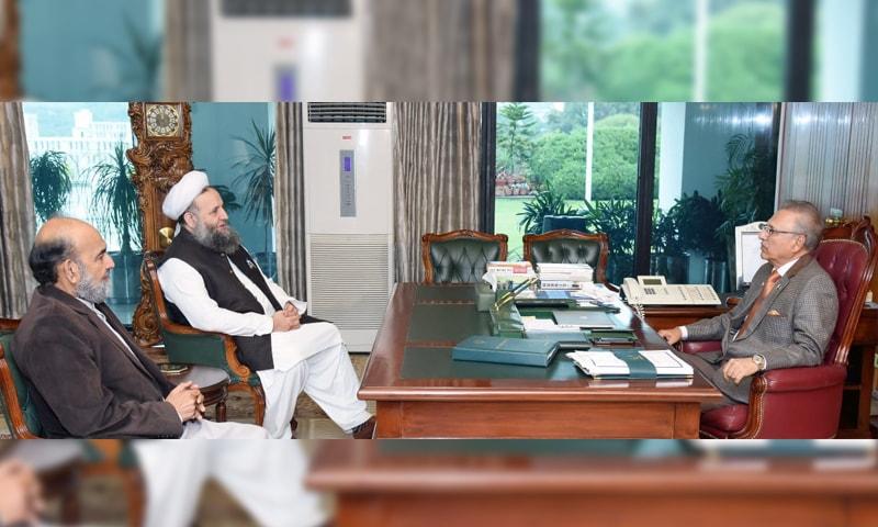 صدر مملکت سے دونوں مذہبی شخصیات نے ملاقات کی—فوٹو: حکومت پاکستان