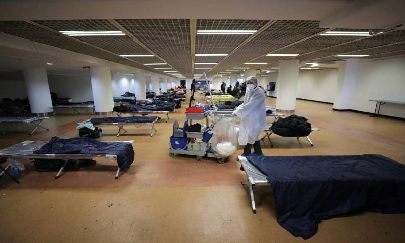 کانز فلم فیسٹیول کی جگہ بے گھر افراد کے عارضی مسکن میں تبدیل