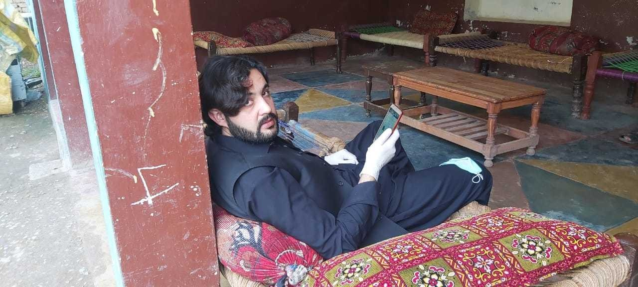 Adil Rehman, seen here at his home, is the first patient in KP to recover fully from Covid-19.  —  Photo by author