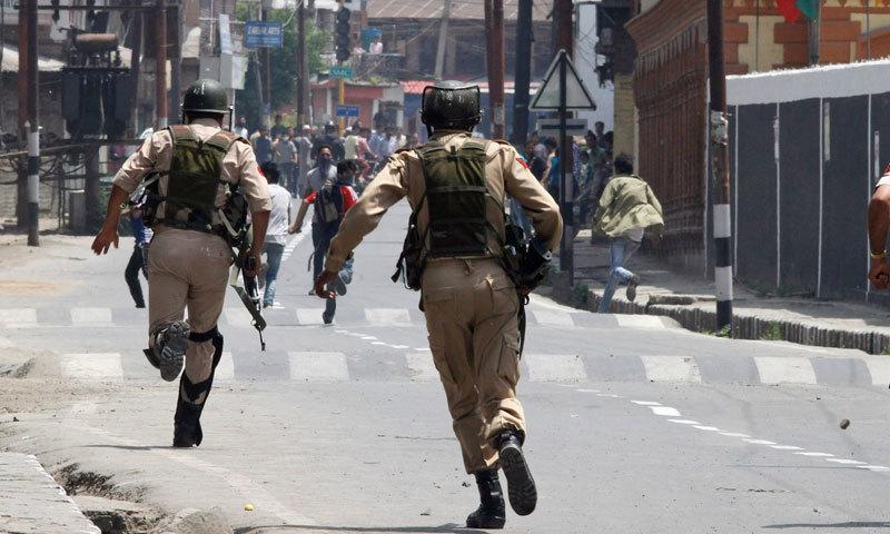 بھارت نے مقبوضہ جموں و کشمیر میں 5 اگست کو لاک ڈاؤن کیا تھا—فائل/فوٹو:اے ایف پی