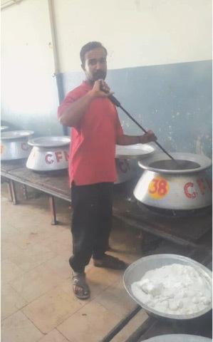 Abdul Aleem at the catering centre