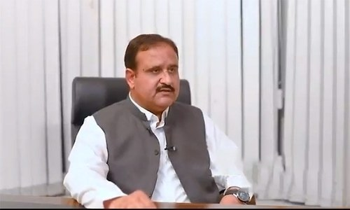 """""""The Punjab government is standing with the people who have lost their livelihoods in the wake of the coronavirus scourge,"""" said Chief Minister Usman Buzdar. — DawnNewsTV/File"""