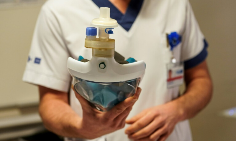 The snorkelling mask solution could be a stop-gap measure for patients on the brink of intensive-care treatment but for whom no beds nor respirators are available. — AFP